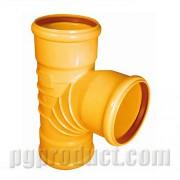 سه راهی خم 87.5 درجه سه سر کوپله نارنجی پوش فیت - پلیمر گلپایگان
