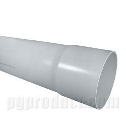 Non-Pressure Underground Drainage And Sewerage ,Grey , Single Solvent Socket , 6m