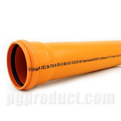 Soil And Waste Discharge Pipes ,Orange, Single Solvent Socket ,Push Fit , 6m
