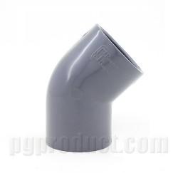 45° Elbow (DS) Dark Grey