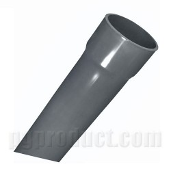 Water Supply Pipe ,Dark Grey, Single Solvent Socket ,6m