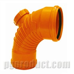 87.5° Swept Bend With Threaded Cap (DS)